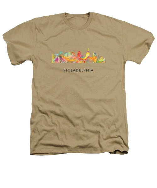 Philadelphia Pennsylvania Skyline Heathers T-Shirt by Marlene Watson