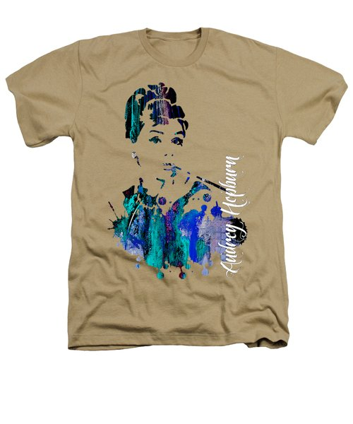 Audrey Hepburn Collection Heathers T-Shirt by Marvin Blaine