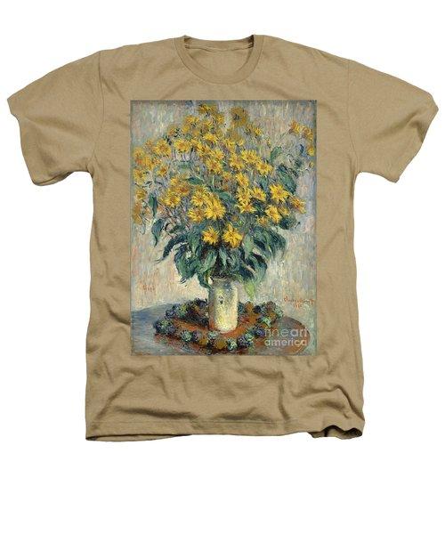Jerusalem Artichoke Flowers Heathers T-Shirt by Claude Monet