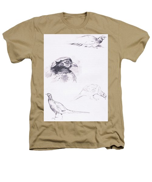 Pheasants Heathers T-Shirt by Archibald Thorburn