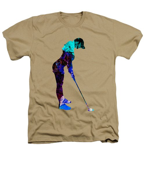 Womens Golf Collection Heathers T-Shirt by Marvin Blaine