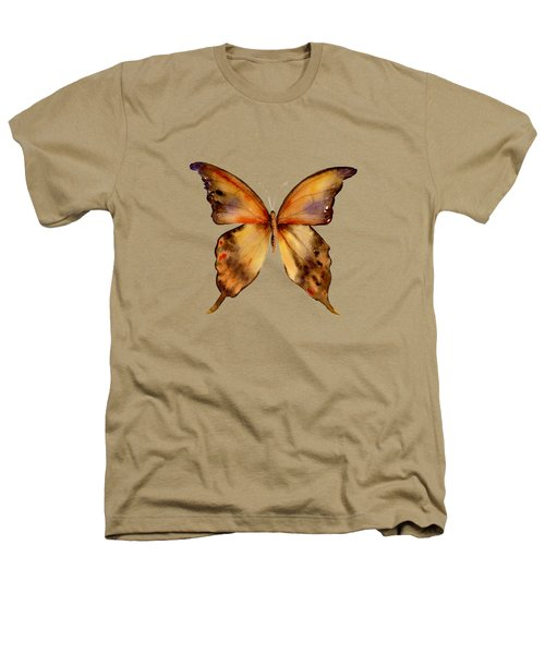 7 Yellow Gorgon Butterfly Heathers T-Shirt by Amy Kirkpatrick