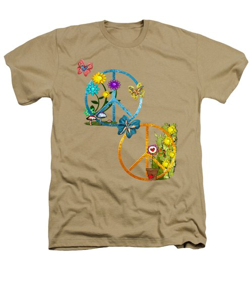 A Very Hippy Day Whimsical Fantasy Heathers T-Shirt by Sharon and Renee Lozen