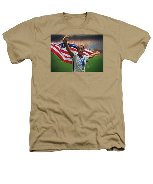 Abby Wambach Us Soccer Heathers T-Shirt by Semih Yurdabak