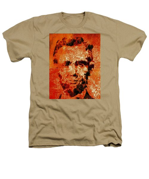 Abraham Lincoln 4d Heathers T-Shirt by Brian Reaves