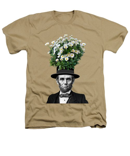 Abraham Lincoln Presidential Daisies Heathers T-Shirt by Garaga Designs