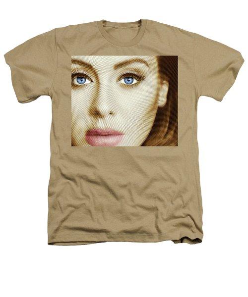 Adele Painting Circle Pattern 1 Heathers T-Shirt by Tony Rubino