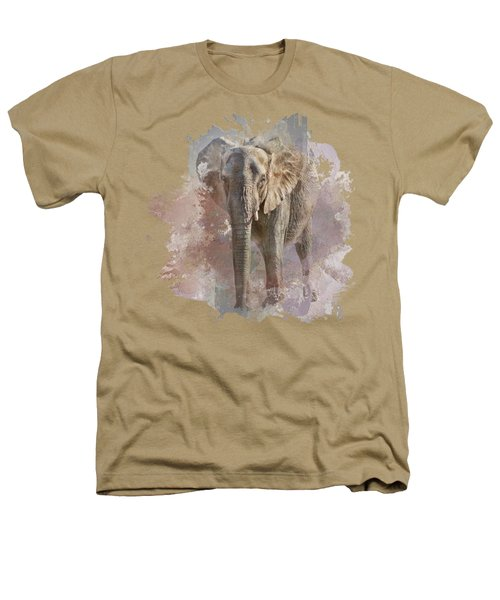 African Elephant - Transparent Heathers T-Shirt by Nikolyn McDonald