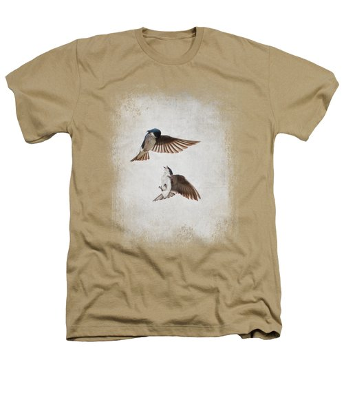 Airobatics - Tree Swallows Heathers T-Shirt by Jai Johnson