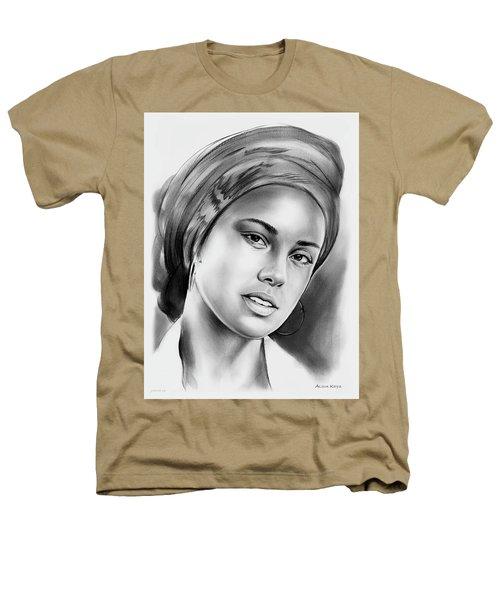 Alicia Keys 2 Heathers T-Shirt by Greg Joens