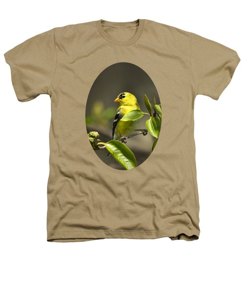 American Goldfinch On Branch Heathers T-Shirt by Christina Rollo