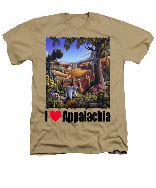 Amish Country - Coon Gap Holler Country Farm Landscape Heathers T-Shirt by Walt Curlee