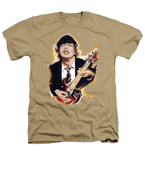 Angus Young Heathers T-Shirt by Melanie D