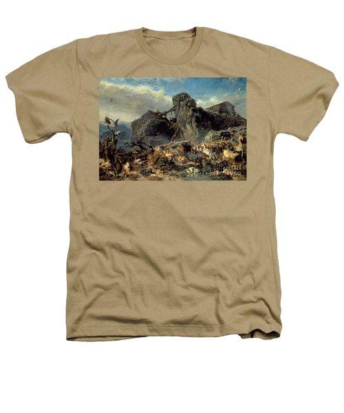 Animals Leaving The Ark, Mount Ararat  Heathers T-Shirt by Filippo Palizzi
