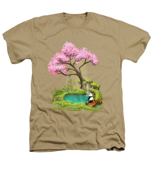 Anjing II - The Zen Garden Heathers T-Shirt by Carlos M R Alves