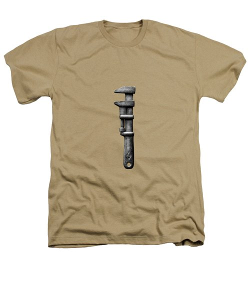 Antique Adjustable Wrench Bw Heathers T-Shirt by YoPedro