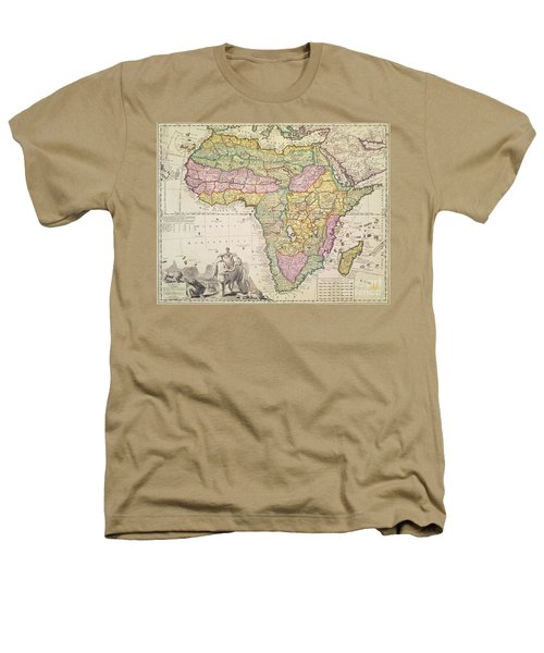 Antique Map Of Africa Heathers T-Shirt by Pieter Schenk