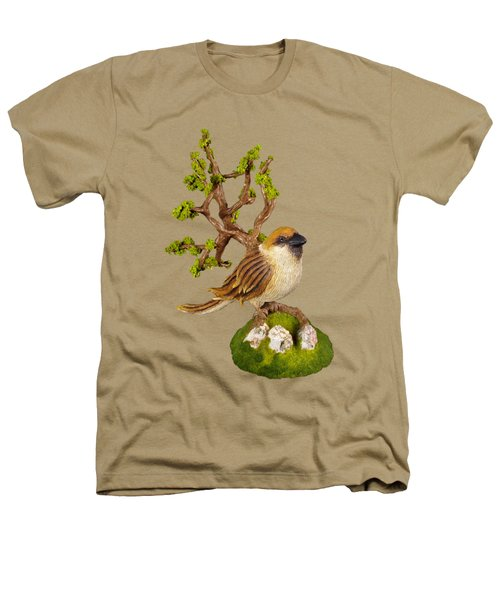Arborescent Sparrow Heathers T-Shirt by Przemyslaw Stanuch