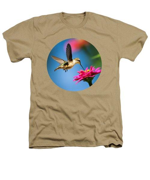 Art Of Hummingbird Flight Heathers T-Shirt by Christina Rollo