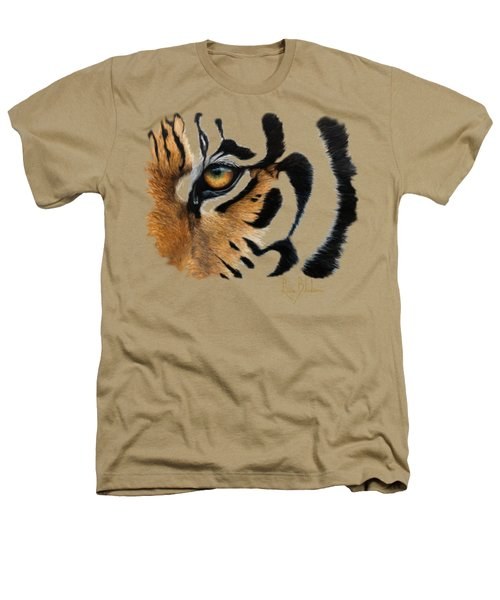 Tiger Eye Heathers T-Shirt by Lucie Bilodeau