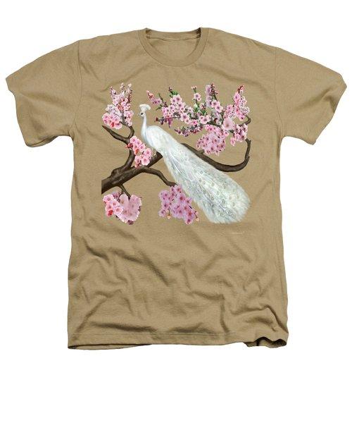 Cherry Blossom Peacock Heathers T-Shirt by Glenn Holbrook
