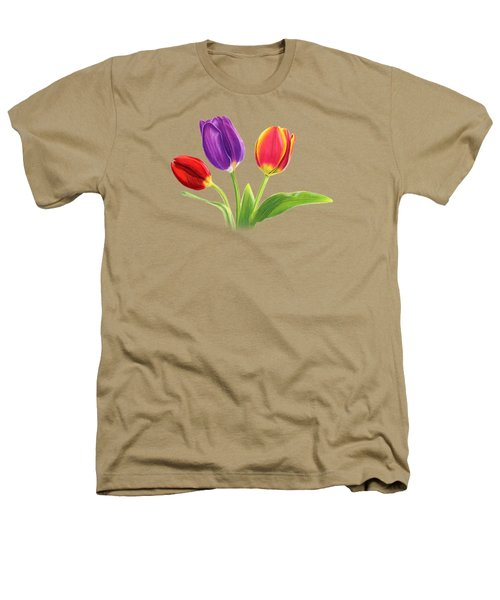 Tulip Trio Heathers T-Shirt by Sarah Batalka