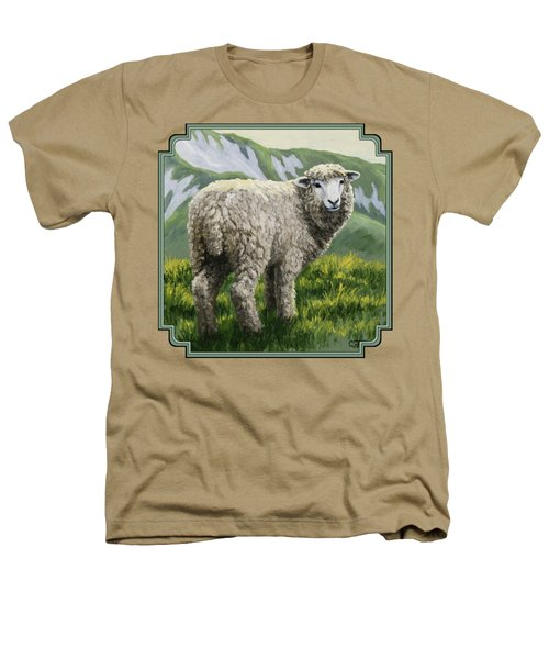 Highland Ewe Heathers T-Shirt by Crista Forest