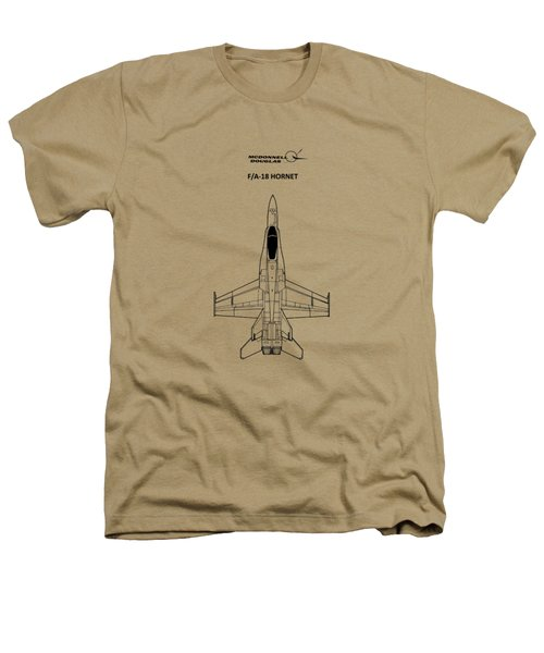 The F-18 Hornet Heathers T-Shirt by Mark Rogan