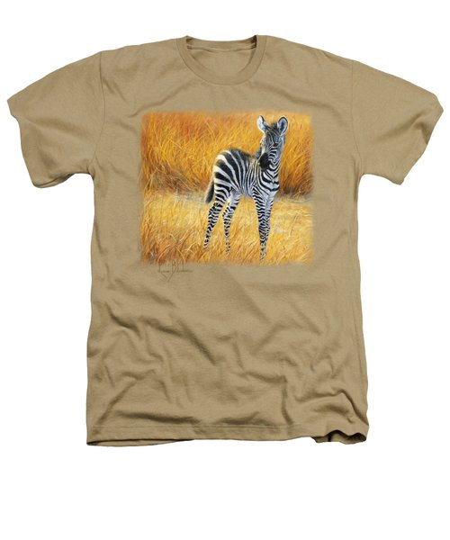 Baby Zebra Heathers T-Shirt by Lucie Bilodeau