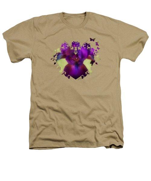 Deep Purple Heathers T-Shirt by Anita Faye