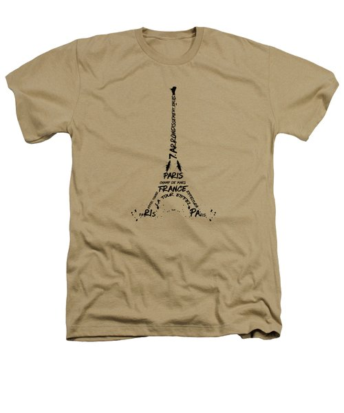 Digital Art Eiffel Tower Pattern Heathers T-Shirt by Melanie Viola