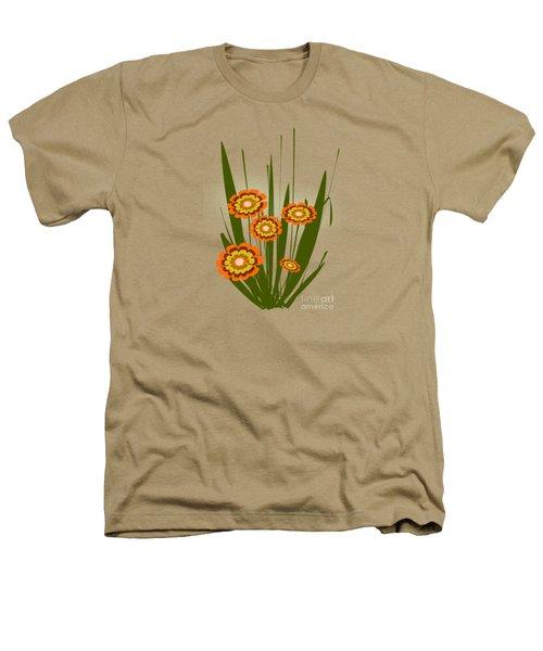 Orange Flowers Heathers T-Shirt by Anastasiya Malakhova