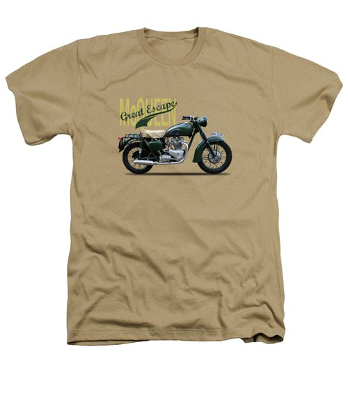 The Great Escape Motorcycle Heathers T-Shirt by Mark Rogan