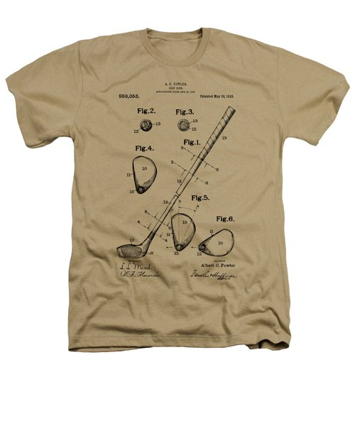 Vintage 1910 Golf Club Patent Artwork Heathers T-Shirt by Nikki Marie Smith