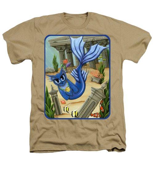 Atlantean Mercat Heathers T-Shirt by Carrie Hawks