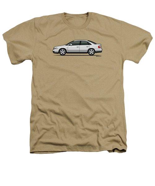 Audi A4 Quattro B5 Type 8d Sedan White Heathers T-Shirt by Monkey Crisis On Mars