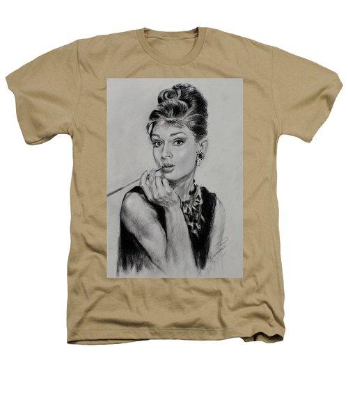 Audrey Hepburn Heathers T-Shirt by Ylli Haruni