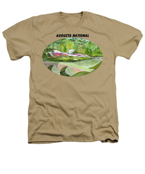 Augusta National Golf Course With Banner Heathers T-Shirt by Bill Holkham