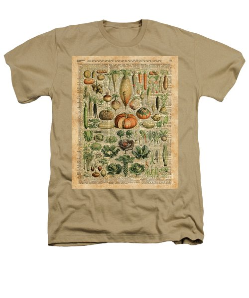 Autumn Fall Vegetables Kiche Harvest Thanksgiving Dictionary Art Vintage Cottage Chic Heathers T-Shirt by Jacob Kuch