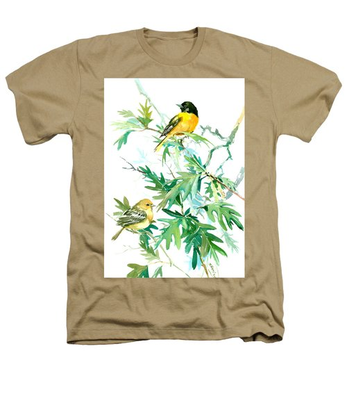 Baltimore Orioles And Oak Tree Heathers T-Shirt by Suren Nersisyan
