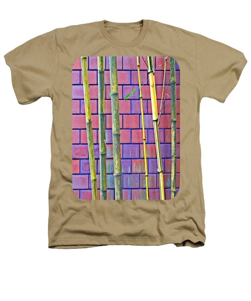 Bamboo And Brick Heathers T-Shirt by Ethna Gillespie