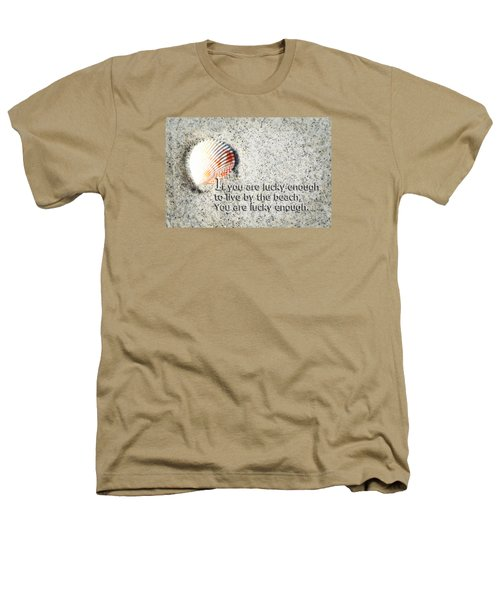 Beach Art - Lucky Enough - Sharon Cummings Heathers T-Shirt by Sharon Cummings