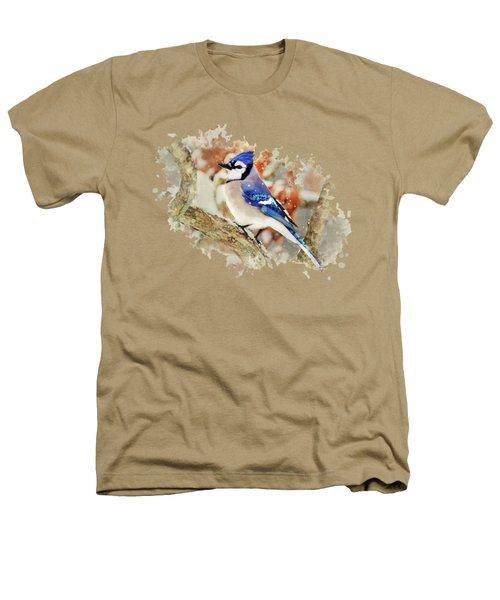 Beautiful Blue Jay - Watercolor Art Heathers T-Shirt by Christina Rollo