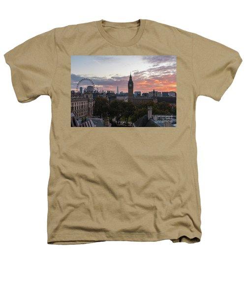 Big Ben London Sunrise Heathers T-Shirt by Mike Reid