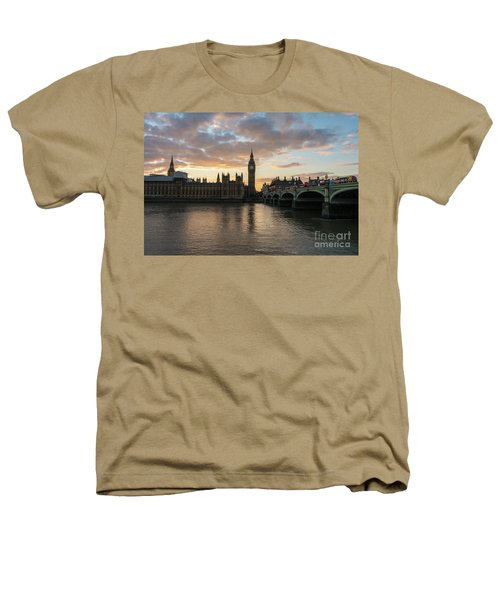 Big Ben London Sunset Heathers T-Shirt by Mike Reid