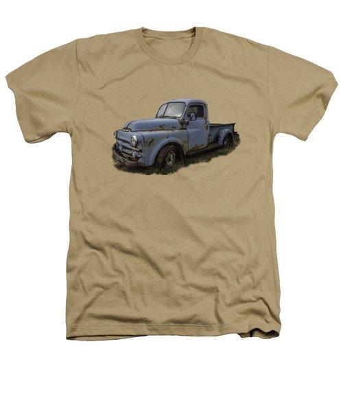 Big Blue Dodge Alone Heathers T-Shirt by Debra and Dave Vanderlaan