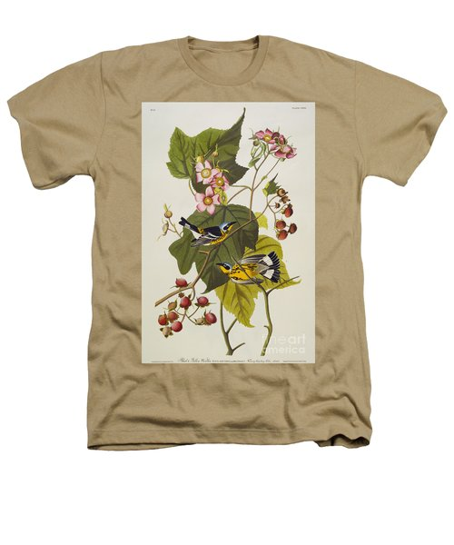 Black And Yellow Warbler Heathers T-Shirt by John James Audubon