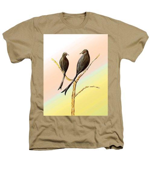 Black Drongos B Heathers T-Shirt by Thecla Correya