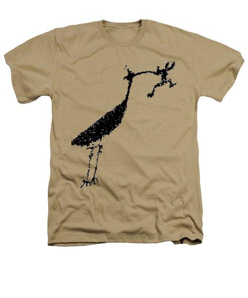 Black Petroglyph Heathers T-Shirt by Melany Sarafis