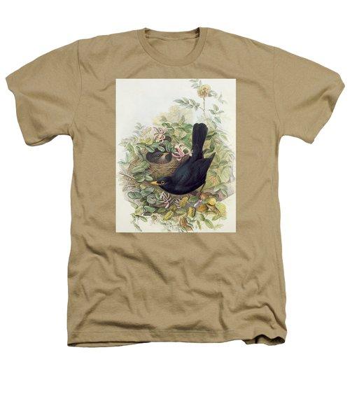 Blackbird,  Heathers T-Shirt by John Gould